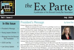 The Ex Parte July 2020 issue Print
