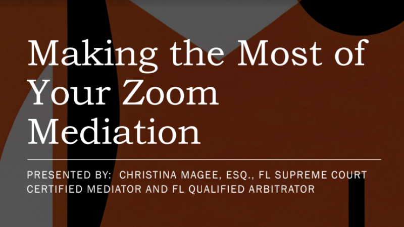 Making the most of your zoom
